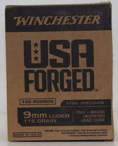 150 Winchester 9mm 115gr FMJ Cartridges
