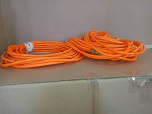 3/8 in. x 100 ft. PVC Air Hose by Husky- used - SEE PICTURES