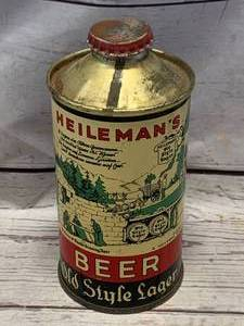 Heilman's Old Style Lager Cone Top Beer Can La Crosse WI (lower quality sold for over $400 on Ebay)
