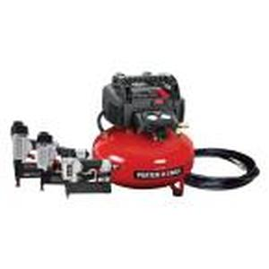 Porter Cable 6 Gal. 150 PSI Portable Electric Air Compressor with 16-Gauge, 18-Gauge and 23-Gauge Nailer Combo Kit (3-Tool) not used see pictures