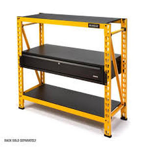 1-Drawer Storage/Worktop Add-On Kit for 4 ft. Industrial Storage Rack by DEWALT  Customer Returns Open Box See Pictures