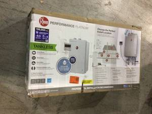 Rheen Performance Platinum 9.5 GPM Liquid Propane High Efficiency Indoor Tankless Water Heater open box customer return