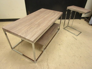 STEVE SILVER COFFEE TABLE, END TABLE
