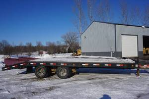 2000 Tow Master 24' Heavy Duty Tandem Axle Dually Deck Over Equipment Trailer