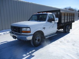 1997 Ford F350 with 12' Flatbed with Sides