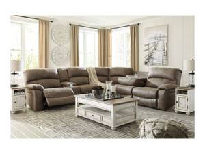 Benchcraft by Ashley Segburg Casual 4-Piece Power Reclining Sectional with USB Ports 34303-59+77+54+62 - Brand New.  - LOW $1,200.00 RESERVE!