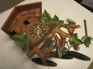 VINTAGE CLOCK, MADE IN GERMANY