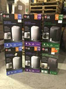 Pallet of assorted LG Portable Air Conditioners Customer Returns various models .COM Returns