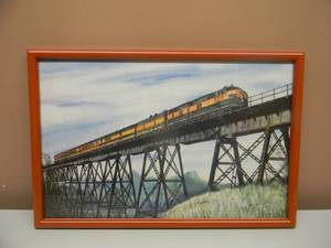 "Artist Signed and Numbered JOHN CARTWRIGHT - Great Northern Train - 88 OF 250 - PROFESSIONALLY FRAMED - APPROX 18"" BY 12"" - SEE PICTURES!"