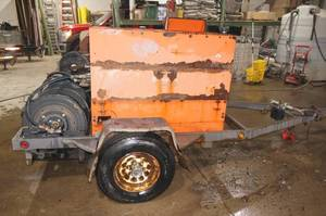 2007 Husqvarna PP-3030-D Turbo Diesel Hydraulic Pump Trailer