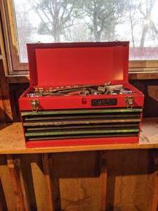 Husky Tool Box with Craftsman Sockets and Wrenches