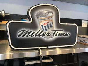 Vintage 1997 Miller Light Neon sign.