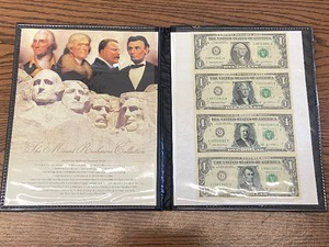 Mount Rushmore 4 Dollar Set