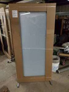 "Frosted Glass 36"" wide x 77"" tall"