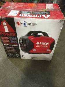 A-iPower 2,000-Watt Recoil Start Dual Fuel Powered Inverter Generator customer return in good condition see pictures