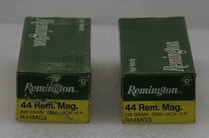 40 Remington 44Mag 240gr Semi-Jack HP Cartridges