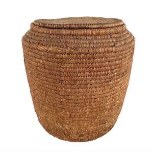 Native American lidded basket circa 1920s northwestern tribes.