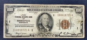 1929 $100.00 Note - Minneapolis!
