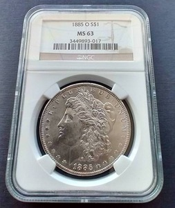 1885-O Morgan Dollar - MS63!