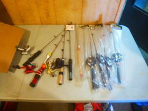 Assorted Ice Fishing Poles