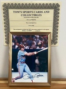 "Autographed ""Pete Rose"" Photograph"