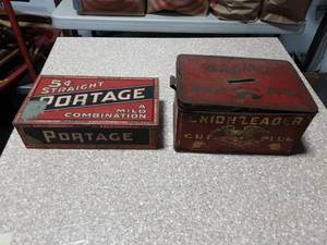 2-Antique Tobacco Tins