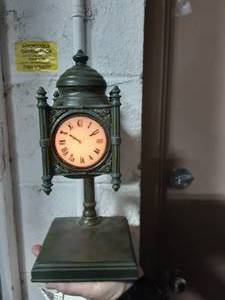 "Quoizel 12"" State Street Tiffany Clock Accent Lamp Made Exclusively For Marshall Fields"