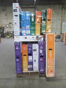 "UNTOUCHED Wholesale Pallet of 40"" 43"" 50"" 55"" & 70"" Smart Ultra HD TV's - $ 4,234.86 RETAIL VALUE!!!!"
