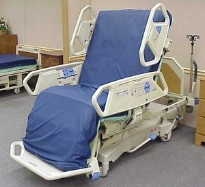 "Retails New $22,000 Hill-Rom P1900 TotalCare Hospital Treatment Bed w/Adjustable Air Flow Mattress, Scale, Digital Screen, Chair Position Plus Powered Flexafoot (Extends A Retractable 12""To The Bed) Excellent Working Condition! See Youtube & Manual"