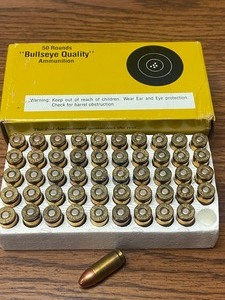 (50) Rounds Bullseye Quality 9mm-Lu...
