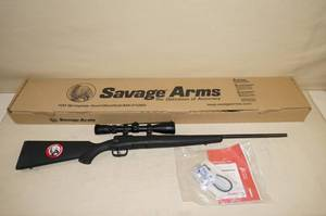 Savage B-Mag .17 Win Super Mag Bolt Action Rifle with Nikon Scope