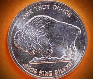 "(1) ""Buffalo"" 1-Troy Ounce Silver Round Bullion"