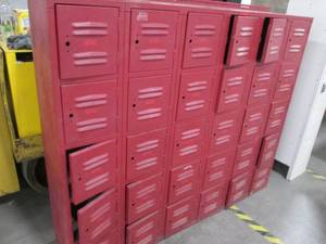 Large set of wall lockers. 6-sectio...