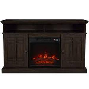 Stylewell Wolcott 48 in. Media Console Electric Fireplace in Prairie Ash not used