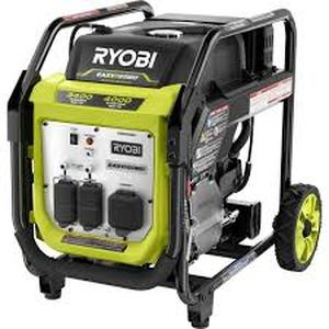 Ryobi RYi4022X 4000 Watt Gasoline Powered Digital Inverter Generator in like new condition