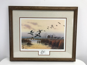 """The Sundowners"" by Jerry Raedeke -Framed & Signed Print - 39/99"