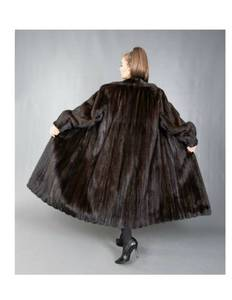 Natural Full Length Blackglama Mink Fur Coat