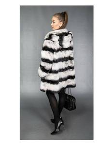 NEW Women's Hooded Chinchilla Fur Jacket