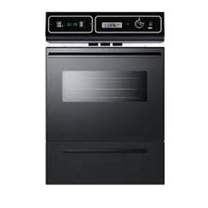 Summit 24 in. Single Gas Wall Oven in Black not used see pictures