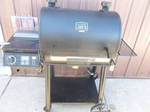 Oklahoma Joe smoker pellet grill. Lightly used. Shows code error 2 & we think it may need a new ignitor? As shown.