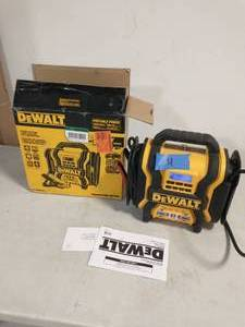 DEWALT 1600 Peak Amp Portable Car Jump Starter with 120 PSI Digital Air Compressor and 500-Watt Inverter