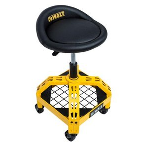 DEWALT 24 in. H x 16 in. W x 16 in. D Adjustable Shop Stool with Casters