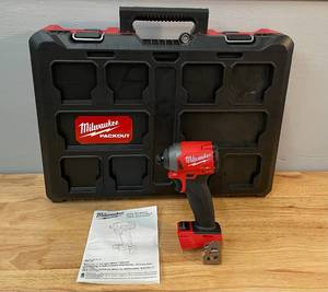 "Milwaukee Tool M18 FUEL 18V 1/4"" Hex Impact Driver & Packout Case"