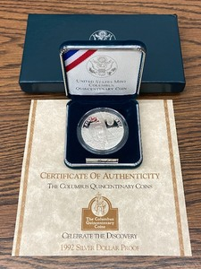 1992 Silver Dollar Commemorative Proof