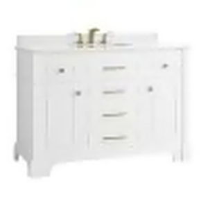 Melpark 48 in. W x 22 in. D Bath Vanity in White with Cultured Marble Vanity Top in White with White Sink by Home Decorators Collection