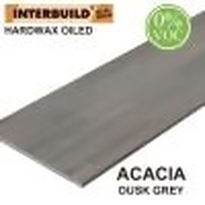 Acacia 8 ft. L x 40 in. D x 1 in. T Butcher Block Island Countertop in Dusk Grey Wood Oil Stain by Interbuild