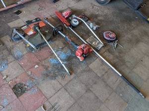 Shindaiwa M242 Trimmer w/ Pole Saw, Edger, Brush Cutter, and More - Ready to Work!