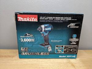 New Makita 18-Volt LXT Lithium-Ion Brushless 1/4 in. Cordless Quick-Shift Mode 3-Speed Impact Driver