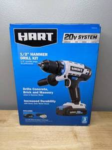 Brand New HART 20-Volt Cordless 1/2-inch Hammer Drill Kit 1.5Ah Lithium-Ion Battery