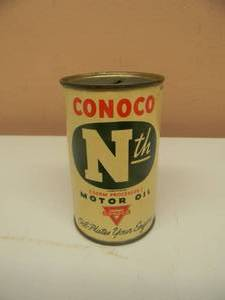 VINTAGE ORIGINAL CONOCO NTH MOTOR OIL CAN COIN BANK - VERY RARE! - NICE! - SEE PICTURES!